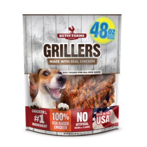 Betsy Farms Grillers Chicken Dog Treats 48 oz