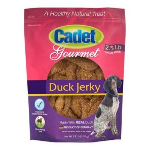 Cadet Gourmet Duck Jerky Dog Treats 2.5 Lb Bag