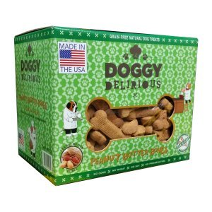 Doggy Delirious Peanut Butter Bones Dog Treats 5 Lbs