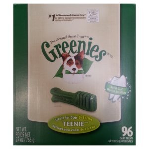 Greenies Dental Chews Teenie 5-15 Lb 96 Daily Treats