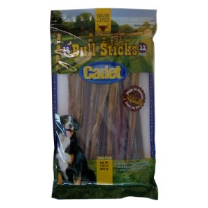 Cadet Gourmet Bull Sticks Dog Treats 12 Inch 12 Count