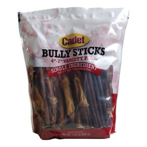 "Cadet Bully Sticks Premium Dog Treats 4""-7"" Variety Pack"