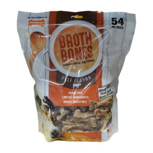 Nylabone Broth Bones Beef Flavored 54 Ct Bag