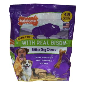 Nylabone Edible Bison Dog Chews 48 Ct Bag