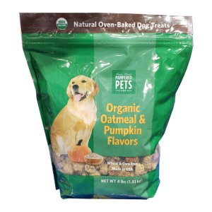 Pampered Pet Organic Pumpkin Dog Treats 4 Lb Bag