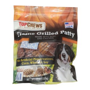 Top Chews Flame Grilled Patty Dog Treats 2.25 Lb Bag