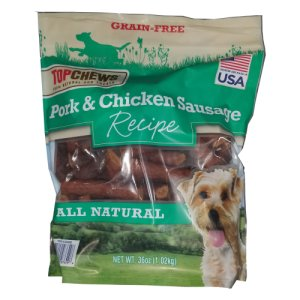 Top Chews Pork Chicken and Sausage Dog Treats 36 oz
